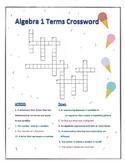 Algebra 1 Terms Crossword Puzzle