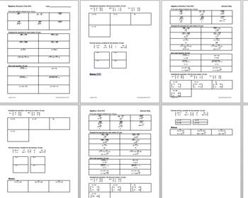 Algebra 1 Test #12: Radicals and Matrices