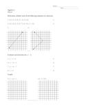 Algebra 1 Test 4 Functions