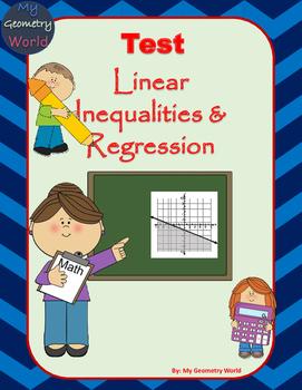 Algebra 1 Test: Linear Inequalities & Regression