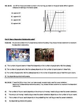 Algebra 1 Test; Modeling Graphs