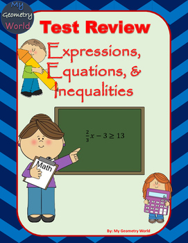 Algebra 1 Test Review: Expressions, Equations, & Inequalities