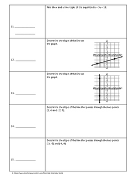 Algebra 1 Test Review: Linear Functions