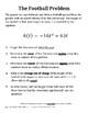 Algebra 1 - The Football Problem