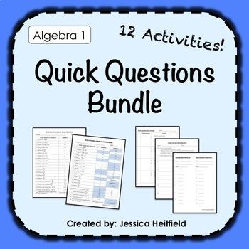 Algebra 1 Activities Bundle: Best-Selling Fix Common Mistakes!