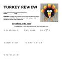 "Algebra 1 ""Turley"" Review (EDITABLE)"