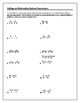 Algebra Tutorial & Worksheets: Adding and Subtracting Rational Expressions