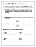 Algebra Tutorial & Worksheets: Choosing a Method to Solve
