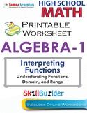Algebra 1 Understanding Functions, Domain, and Range