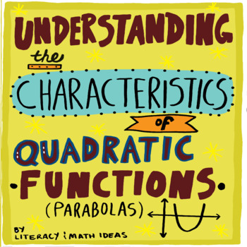 Characteristics Of Quadratics Activity Worksheets TpT