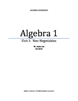 Algebra 1 - Unit 1 - Evaluating Expressions - by ACT 720