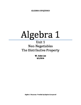Algebra 1 - Unit 1 - The Distributive Property by ACT 720