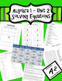 Algebra 1 Unit 2 - Solving Equations