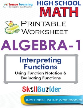 Algebra 1 Using Function Notation & Evaluating Functions
