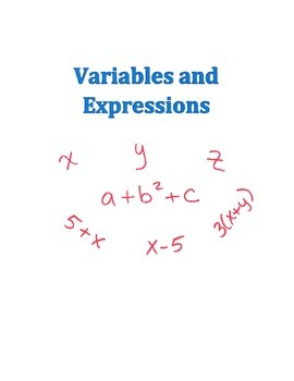 Algebra 1 Variables and Expressions Lesson Plan