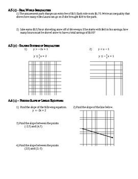 Algebra 1 Virginia SOL Review Packet (by standard)
