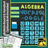 Algebra 1 Vocabulary Game with Bulletin Board Option Included