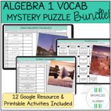 Algebra 1 Vocabulary Words Digital Self-Checking Activity BUNDLE