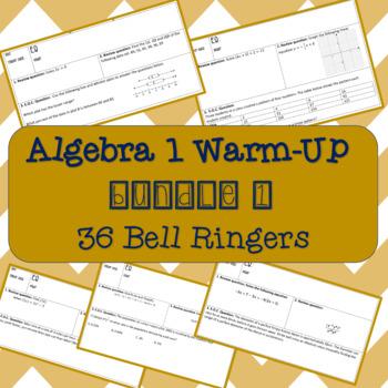 Algebra 1 Warm-Up Bundle #1