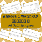 Algebra 1 Warm-Up Bundle #1