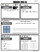 Algebra 1 Warm Ups / Bell Ringers