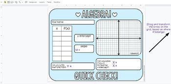 Algebra Quick Check Template