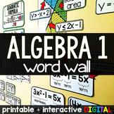 Algebra Word Wall w/ virtual option