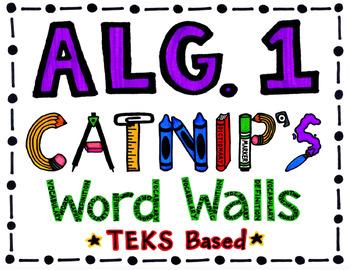 Algebra 1 Word Wall
