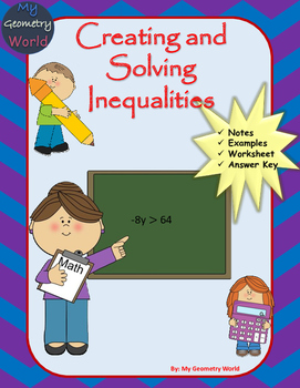 Algebra 1 Worksheet: Creating and Solving Inequalities