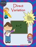 Algebra 1 Worksheet: Direct Variation