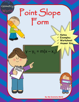 Algebra 1 Worksheet: Point Slope Form
