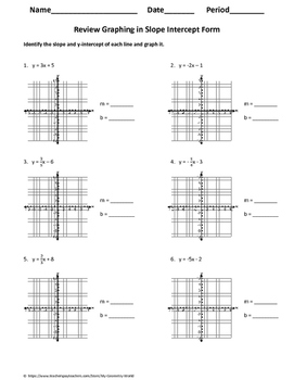 algebra 1 worksheet review graphing linear equations - Graphing Linear Equations Worksheet