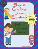 Algebra 1 Worksheet: Slope & Graphing Linear Equations