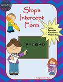 Algebra 1 Worksheet: Slope Intercept Form
