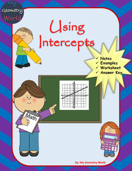 Algebra 1 Worksheet: Using Intercepts