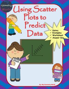 Algebra 1 Worksheet: Using Scatter Plots to Predict Data