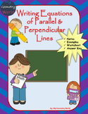 Algebra 1 Worksheet: Writing Equations of Parallel & Perpendicular Lines