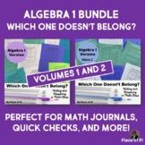 Algebra 1 Writing in Math Activities Journaling BUNDLE