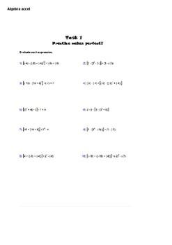 Algebra 1 accelerated ( summer school ) curriculum
