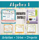 Distance Learning Math Algebra 1 bundle projects, activiti