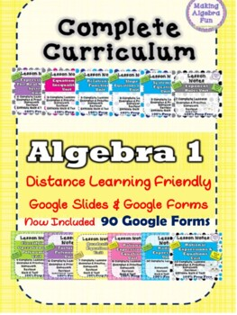 Algebra 1 curriculum BUNDLE with growing GAME PACK