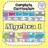 Algebra 1 curriculum BUNDLE Lesson Notes Homework Study Guides Quizzes & Tests