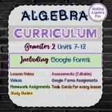 Algebra 1 curriculum BUNDLE (SEMESTER 1)