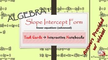 Linear Functions - Slope intercept form