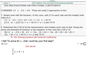 HS [Remedial] Algebra 1A UNIT 5: One Variable Equations (5 wrkshts;7 quizzes)
