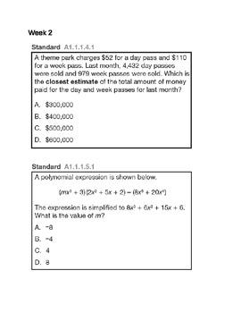 Algebra 1/Algebra 2 Flipcharts Warm-Up