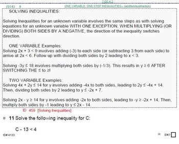 HS [Remedial] Algebra 1B FULL textbook-less course or BUNDLE-11 units