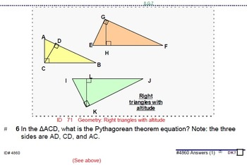HS [Remedial] Algebra 1B UNIT 7: Pythagorean Theorem+ (5 wrkshts;7 quizzes)