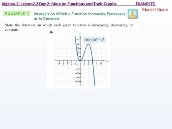 Algebra 2: 2.2 Day 2: More on Functions and their Graphs