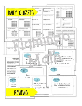 Algebra 2: A Year of Homework, Review, Quizzes and Tests Bundle